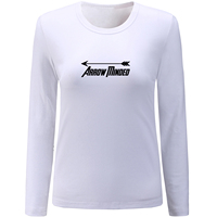 IDzn Arrow Minded Creative Design Women S Long Sleeve Funny T Shirts Cotton Round Neck T