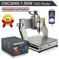 CNC Router CNC3040 3 Axis 1 5KW 110V 220V Engraving Milling Machine With Hand Wheel