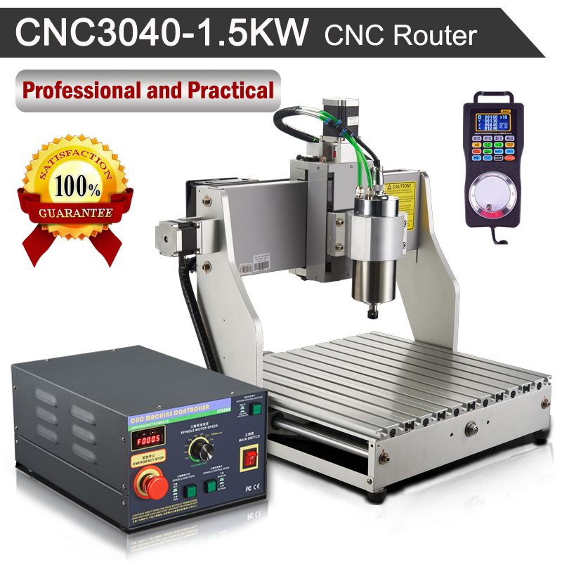 CNC Router CNC3040 3-Axis 1.5KW 110V/220V Engraving Milling Machine With Hand wheel eur free tax cnc 6040z frame of engraving and milling machine for diy cnc router