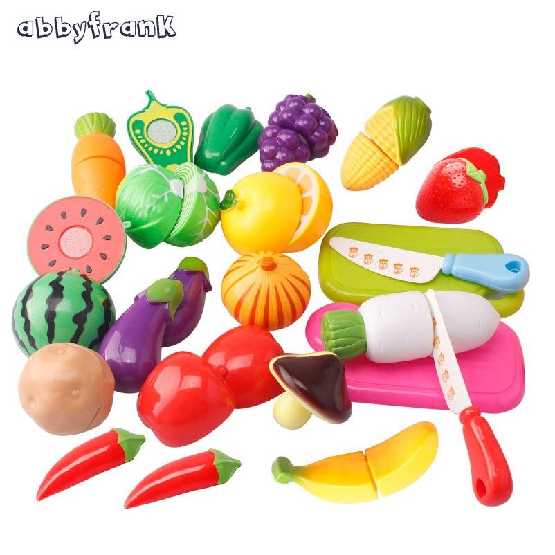 Abbyfrank 6-20Pcs Kitchen Toys Pretend Play Cocina De Juguete Plastic Cooking Cutting Fr ...