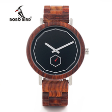BOBO BIRD Luxury Red Wood Band Wrist Watch Men Japan Movemen