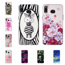 For Samsung Galaxy A6s Cover Soft TPU Silicone A6S Case Cute Cat Patterned a6s Coque Bag