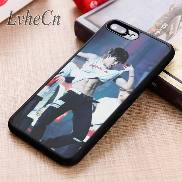 Lvhecn Jimin Bangtan Boys Bts Korea Pattern Phone Case Cover For Iphone 6 6s 7 8 X Xr Xs 5 5s Se Galaxy S5 S6 S7 Edge S8 S9 Plus Fitted Cases