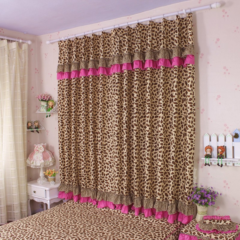 Aliexpress Buy 2pcs Lot Bedroom Curtains Sexy Leopard Printed Cloth Curtain Splice For Living Room Fashion Home Decoration Blackout Cortinas From