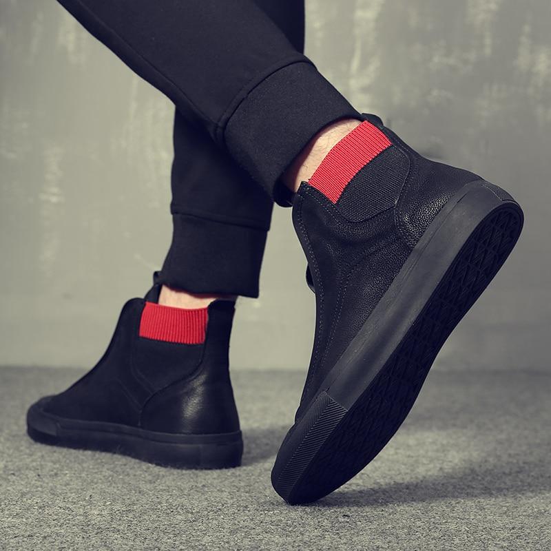 100 Suave em Fundo High Plana Nova De Nubuck Couro Borracha Marca Mycoron Antiderrapante Sapatos top Genuíno Chegada Masculinos Casuais Moda 4CnqwA1X