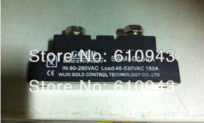 Haute qualité 150A SSR, entrée 90-280VAC sortie 40-530VAc relais à semi-conducteurs monophasé