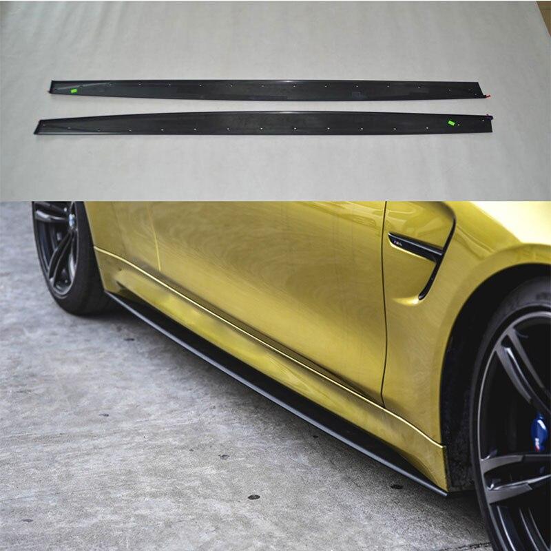 Kolfiberkroppsats Sidokjol Trim Spoiler för BMW F80 M3 4Door F82 M4 - Reservdelar och bildelar - Foto 1
