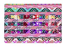 Floor Mat Pink Abstract geometric Bright Andes Wave Pattern Print Non-slip Rugs Carpets For Indoor Outdoor Living Room