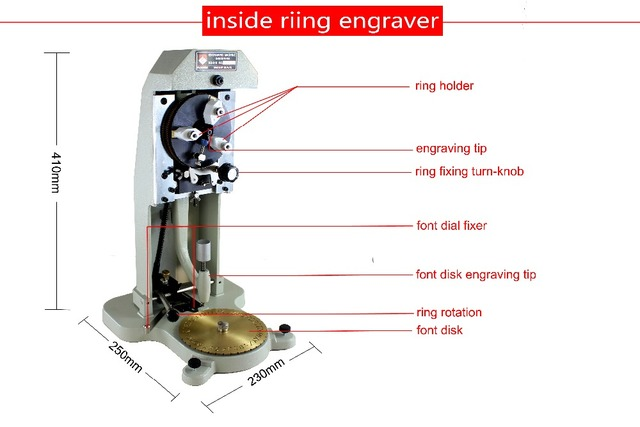 US $166 5 |jewelery tools Hot jewellers tool mini Ring Engraver, Inside  Ring Engraving Machine, inside ring carving machine with font-in Jewelry  Tools