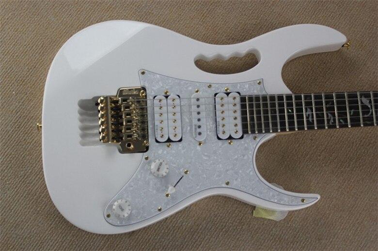 2019 nouvelle usine blanc palissandre touche arbre de vie incrustations 21 à 24 frettes festonnée guitare électrique or matériel
