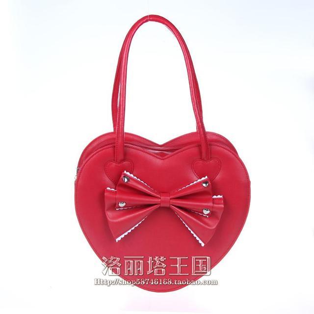 Saco Lolita Princesa lolita cos saco saco de pêssego coração arco bolsa de ombro