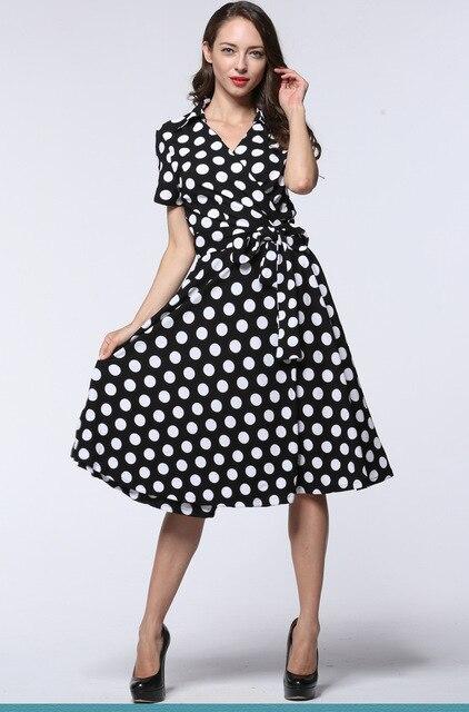 Vintage 50 s 60 s di Stile Più Il Formato Vestito Delle Donne Grande Swing  Con 74e440efa4d