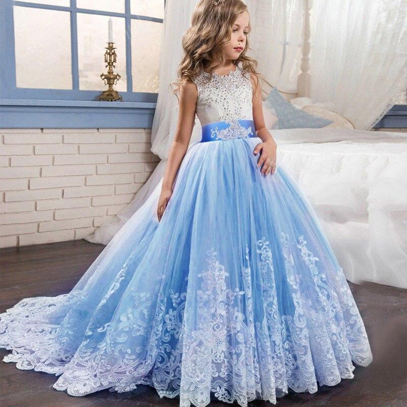 High quality trailing   flower     dress   baby evening wedding birthday   girls     dress   first communion princess costume ladies tutu   dress