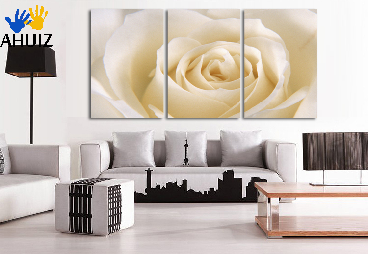 3 Piece Romantic Canvas Painting rose flower Oil Painting Large Wall Art Pictures For Living Room Print On Canvas GLZJ067