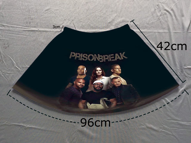 71a68e69d0457 Track Ship+Double Print Comfortable Light Luxury Short Flare Mini Skirt  Prison Break Team Michael Scofield Lincoln Burrows 1466-in Skirts from  Women's ...