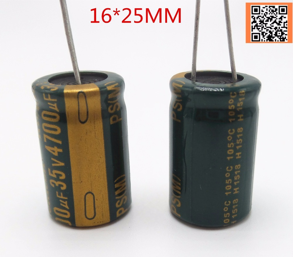 12pcs lot P55 Low ESR Impedance high frequency 35v 4700UF aluminum electrolytic capacitor size 16 25