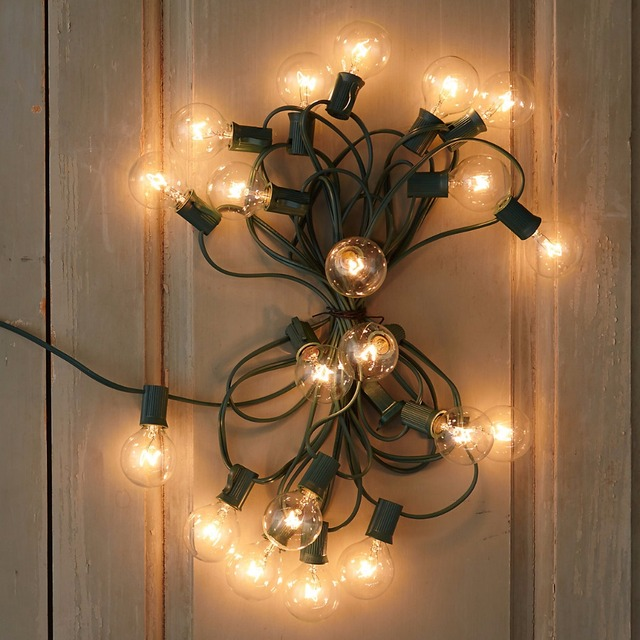 Outdoor Patio String Lights 10M 33ft G40 Globe Lighting With Clear Bulb  Backyard Lights Vintage Bulbs