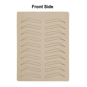 Image 2 - 1PC גומי עיסוק עור מזויף False גבות פיגמנט משלוח עבור Microblading קבוע איפור קעקוע אימון למידה למתחילים