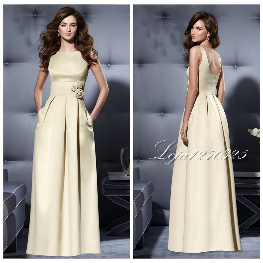 Online get cheap junior champagne bridesmaid dresses long pleat vestido madrinha 2017 new elegant champagne junior bridesmaid dresses satin custom long section of milan ombrellifo Gallery