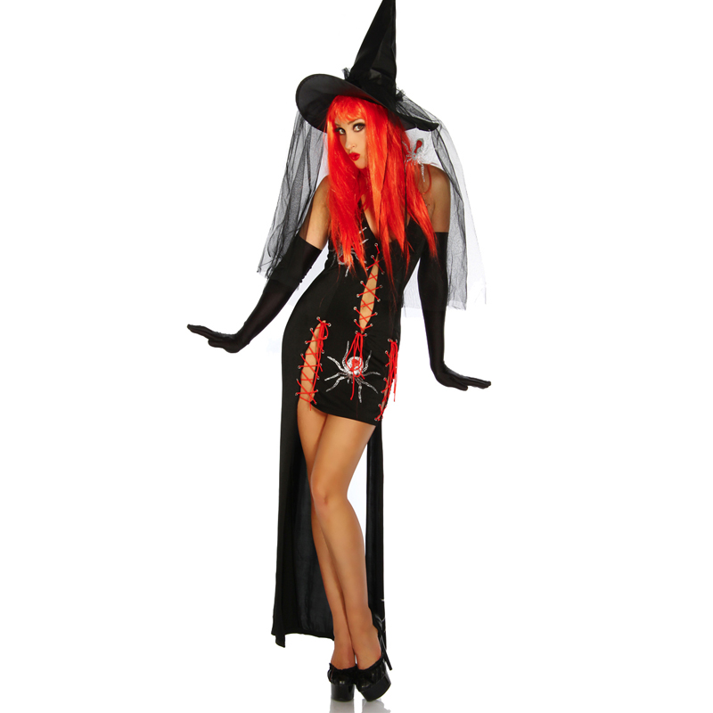Sexy Witch Costume Deluxe Adult Womens Magic Moment Costume Adult Witch Halloween Fancy Dress w295007 2017