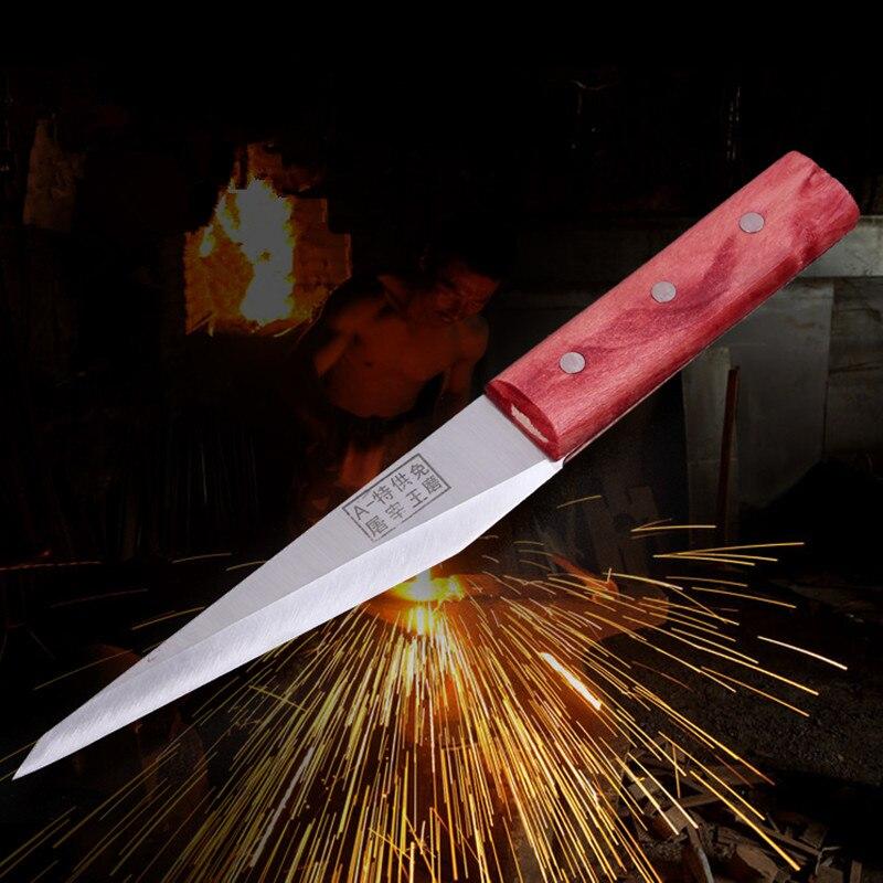 Free Shipping DEFAM Handmade Stainless Steel Kitchen Boning Knife Slaughter Butcher Knives Eviscerate Meat Bone Butcher