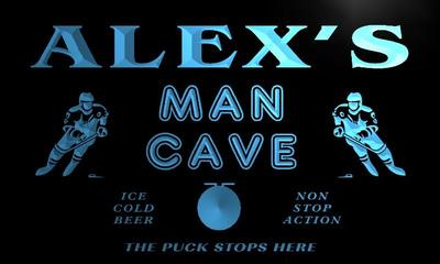 x0155-tm Alexs Man Cave Penalty Box Hockey Custom Personalized Name Neon Sign Wholesale Dropshipping On/Off Switch 7 Colors DHL