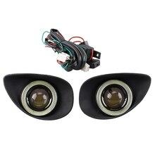 Ангельские глазки противотуманный светильник подходит для Toyota Yaris хэтчбек 2008-2010 прозрачный противотуманный светильник s фары дальнего света+ жгут проводов фары дальнего света