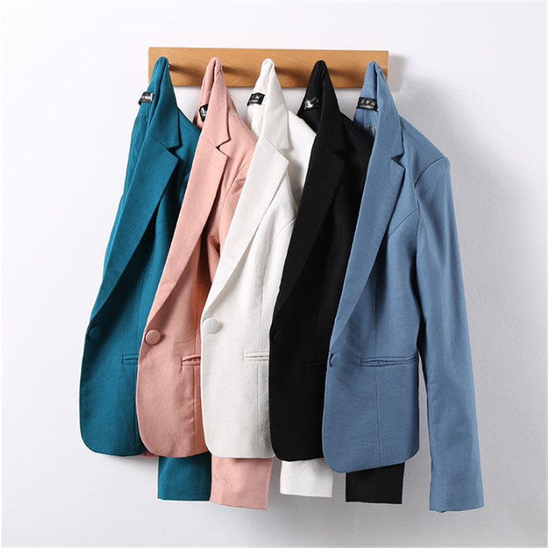 Multi Color Blazer Women 2018 Casual Formal Women Blazer And Jackets High Street Long Sleeve Blazer Ladies Large Size A3101