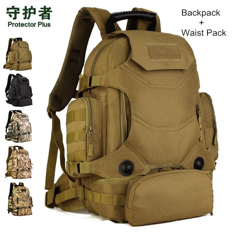 Hot Unisex 40L Multi Function Camouflage font b Backpack b font font b Tactical b font