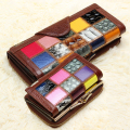 Hot 2016 New Arrival Fashion Long Genuine Leather Women Wallets Casual Short Lady Purses Vintage Multi Slot Card Holder carteira