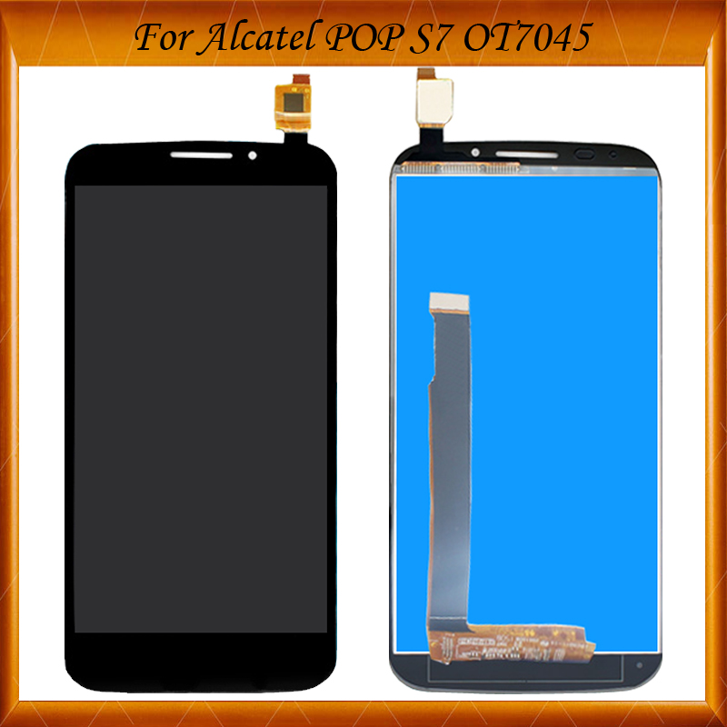 Black White Color For Alcatel One Touch POP S7 OT-7045A 7045 OT7045 <font><b>7045Y</b></font> LCD Display +Touch Screen Digitizer Assembly image