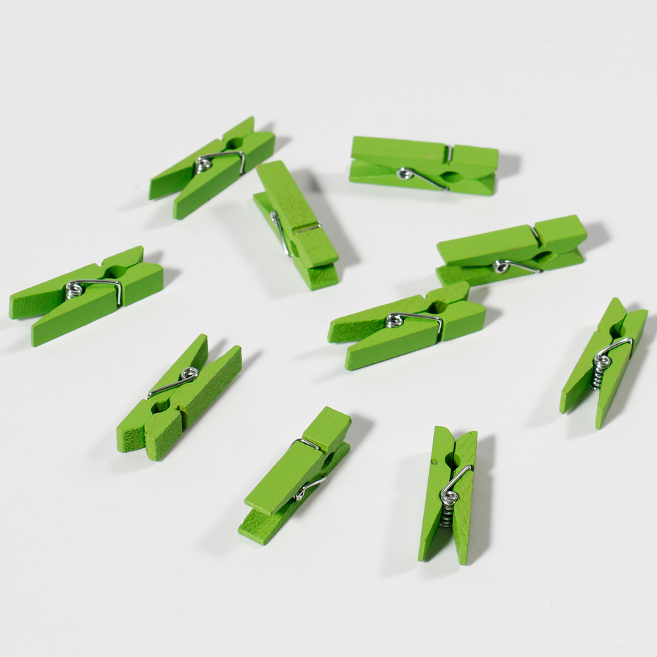 100pcs Mini Colorful Wood Clips Clothespin Clips For Photo Paper
