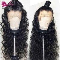 EAYON человеческих волос парики, кружева предварительно сорвал натуральных волос с ребенком вьющиеся волосы бразильский парики Remy отбеленны