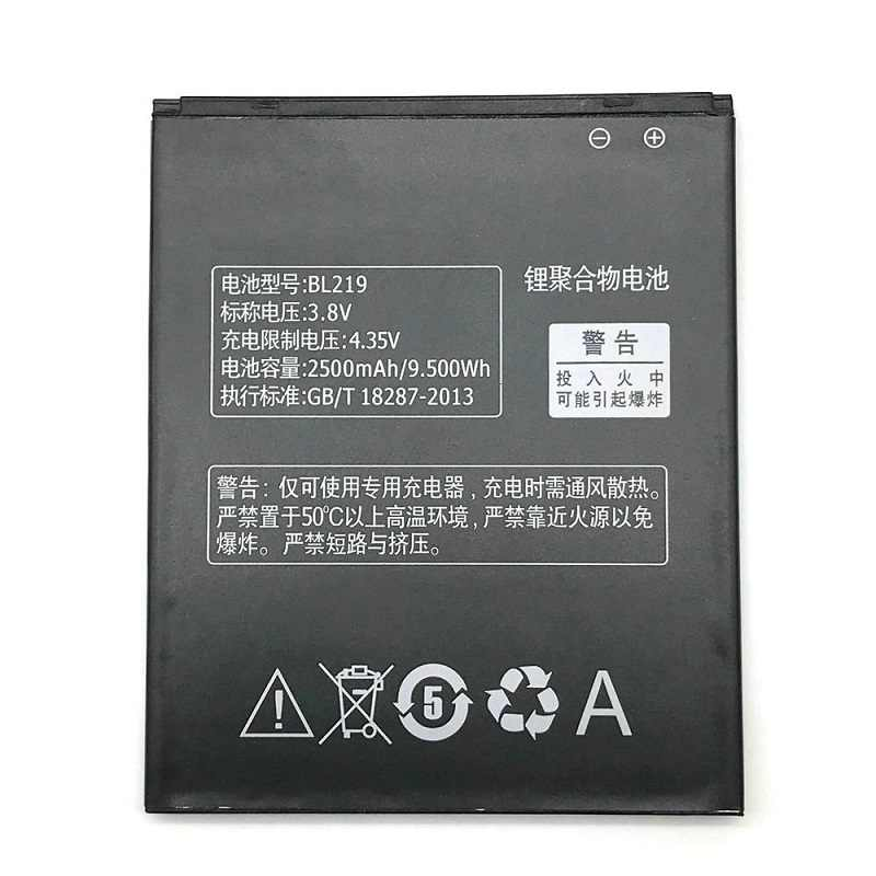 2500mAh BL219 Cell Phone Battery for Lenovo A768T A850+ A880 A889 A890E A916 S810T S856 Phone