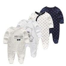 4 шт./партия, хлопковая мягкая одежда для сна для малышей, Kawaii, детские пижамы для мальчиков и девочек, теплая детская одежда для мальчиков и девочек