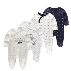 Soft Pajamas Baby Sleepwear Kids Children Kawaii Cotton Boys 4pcs/Lot Warm Girls