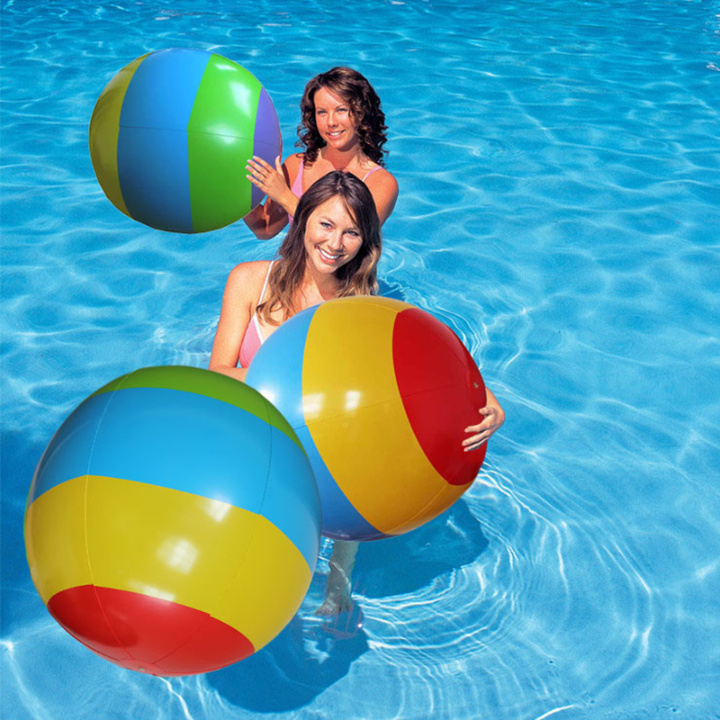 Pool Water With Beach Ball aliexpress : buy 90cm adult colorful beach ball pool float