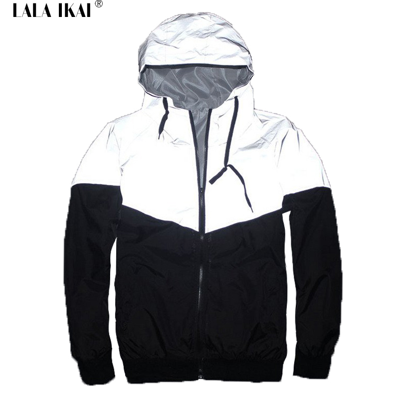 Men 3m Reflective JACKETS 3m Reflective Jacket Hip Hop Winrunner ...