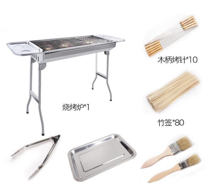 Barbecue pliant en acier inoxydable grand four à charbon de bois Durable