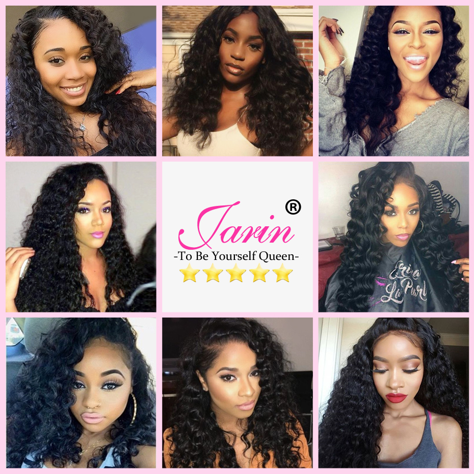 Deep Wave Bundles With Lace Closure 4x4 Brazilian Hair Weave Bundle With Closure Remy Human Hair Free Middle Three Part Jarin