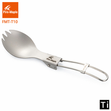 цена на Fire Maple Outdoor Lightweight Portable Climbing Camping Trip Travel  Titanium Folding Spork FMT-T10