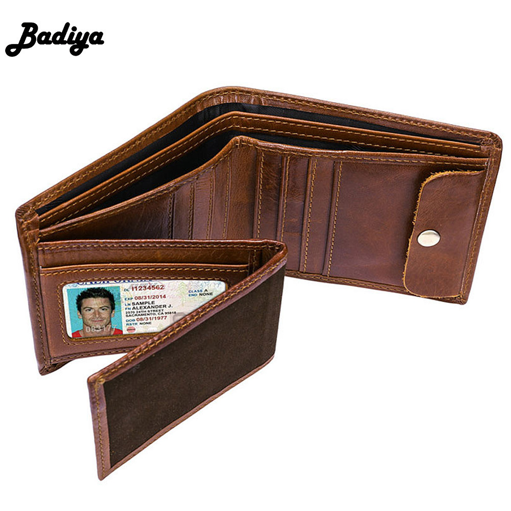 Fashion Design Soft Genuine Leather Wallet Men Short Purse Business Men Wallets Biford Thin Credit Card Holder Cowhide carteira never leather badge holder business card holder neck lanyards for id cards waterproof antimagnetic card sets school supplies
