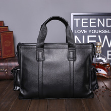 2016 Men Briefcase Business Shoulder Bag PU Leather Messenger Bags Man Handbag Tote Bag Casual Travel Bag