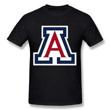 2017 Men's Arizona Wildcats Logo New Fashion Brand Custom Print Slim Fit T Shirt O Neck Top Quality COTTON Tops Tees