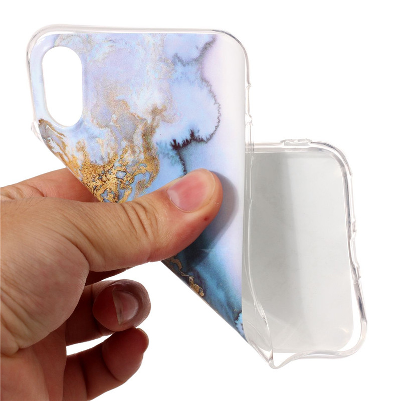 Marble Stone Cases on For Coque iPhone 8 Case Silicone soft TPU Cover For Fundas iPhone 6 6S 7 8 9 Plus 5 5S SE X 10 Phone Case in Fitted Cases from Cellphones Telecommunications