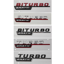 for BITURBO 4Matic Turbo Sticker Mercedes AMG Benz W211 W212 W213 W203 W204 W205 Class A ML CLA GLA Tail Emblem Car Styling