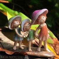 Мини микро пейзаж гриб Фея статуэтки и миниатюры украшения дома Винтаж Сказочный Сад миниатюры