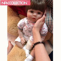 55cm NewBorn Baby Dolls Bebe Reborn Menina Children Best Gift Silicone Reborn Baby Dolls for Kids