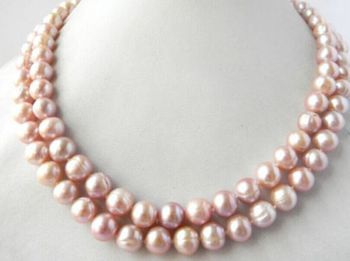 elegant 11-12mm south sea round lavender pearl necklace18inch 19inch >Selling jewerly free shipping