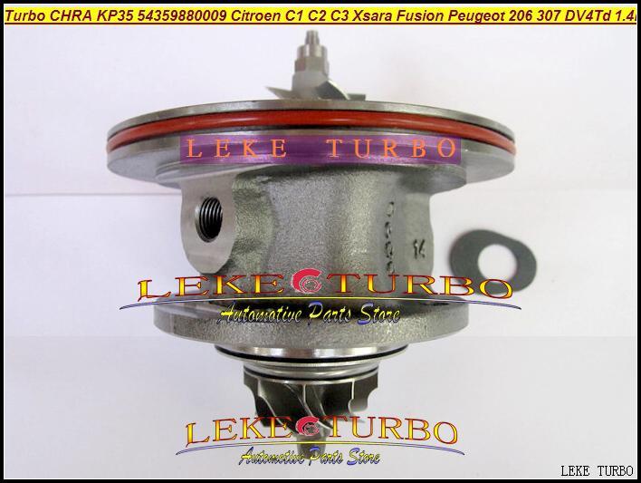Free Ship Turbo Cartridge Chra Core KP35 01 54359880001 54359700001 For Ford Fiesta For Peugeot 206 For Citroen C3 DV4TD 1.4L turbo for ford fiesta for peugeot 206 for citroen c3 2001 2011 for mazda 2 dv4td 1 4l kp35 54359880009 54359710009 turbocharger